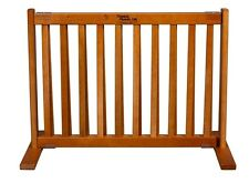 "Dynamic Accents 20"" Kensington Sliding Hardwood Dog Pet Gate Barrier Natural"