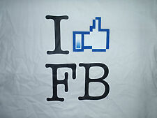 I Like Facebook - Thumbs Up - Mens T-Shirt  Sizes S to 3XL (Blk Wht Gray or Pnk)
