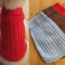 1pc Pet Dogs Warm Knit Weaved Sweater Acrylic Small Dogs Good Clothes Costumes