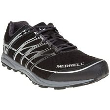 New Mens Merrell Black Mixmaster Nylon Trainers Running Style Lace Up