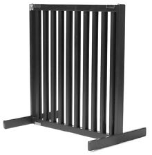 "Dynamic Accents 30"" Kensington Sliding Hardwood Dog Pet Gate Barrier Black"