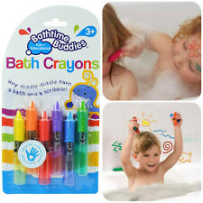 Bathtime Buddies Bath Crayons - Bathtub Color Doodle Draw Alphabet Num Learning