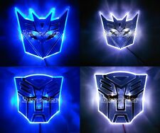 LED Transformers Autobot 3D Logo Emblem Badge Decal Car Sticker Light