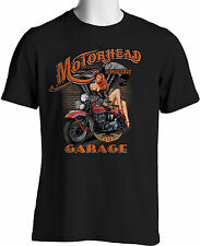 Biker T Shirts Motorcycle Pinup Girls Vintage Bobber Mens Small to 6XL & Tall