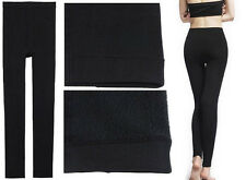 Lady Thick Fleece Lined Thermal Footless Leggings Tights Warm Winter Pant MC1376