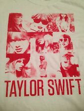 new TAYLOR SWIFT t-shirt WHITE COLLAGE From RED Album Concert Tour Live Squares