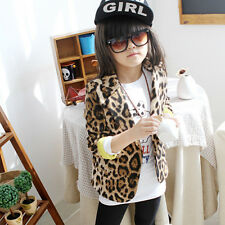 Toddler Girls Coat Slim Fit Casual Jacket Thick Blazers Leopard Outwear 1-6Years