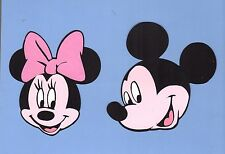 "Mickey Mouse & Minnie Mouse Die Cut Set - 4"", 5"" or 6"" (1 Mickey & 1 Minnie)"