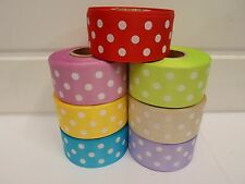 2, 20 or 25 metres x 10mm 20mm 38mm polka dot satin organza ribbon spot UK VAT