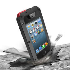 Water/Shock/Dust Proof Aluminum Metal Case With Gorilla Glass For i Phone 4 4S