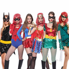 Damen Halloween Kostüm Superheldin Sexy Woman hero f. Karneval Party Mottoparty