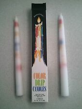 "2 Pack of MULTI-COLOR Taper Drip Candles 3/4"" x 9 1/2"""