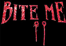 Blood Red Bite Me Rhinestone Rhinestud T-Shirt PLUS SIZE -or- SUPERSIZE T87F