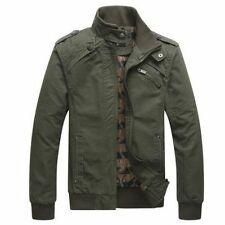 Men's Fashion Casual Spring & Autumn Stand Collor Jacket Cotton Coat Outwear