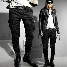 ByTheR Black Oil Cargo Pants Trendy Urban Stylish Casual  cargopants P0000DZX