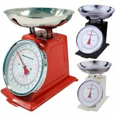 Prima Vintage Kitchen Scales Weights 3KG Or 5KG/11lb 3 Colours Red Cream Black