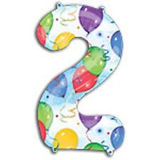 STREAMERS GIANT NUMBER FOIL BALLOONS - 30% Less Helium - 0,1,2,3,4,5,6,7,8,9,