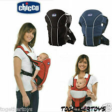 CHICCO G0 BABY CARRIER Black - Blue - Red - New Infant Backpack Sling