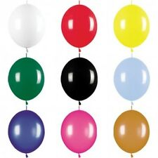 "25 Link-o-Loon Linking Balloons 12"" Assorted Colours Wedding Party Balloon Arch"