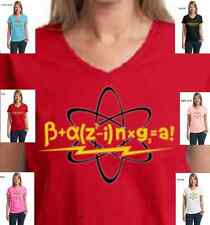 Funnn Big Bang Theory Bazinga Equation Sheldon Cooper New Womens Cotton T-Shirt