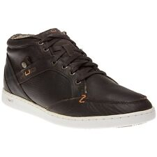 New Mens Hub Brown Firm Leather Boots Chukka Lace Up