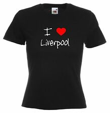 I Love Hearts Liverpool Ladies Fitted T-Shirt