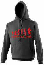 Unisex Rugby Evolution Custom Printed Hooded Sweat