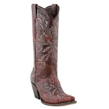 Lucchese Ladies 1883 Western Red Studded Angelina Boot M5715 New