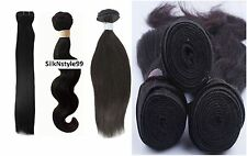 100% Real Brazilian Peruvian Moroccan Malaysian Indian Remy Virgin Human Hair UK