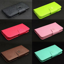 Button Deluxe Wallet Leather Flip + Tpu Skin Case Cover For iPod Touch 5 5TH Gen