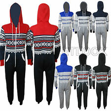 NEW WOMEN LADIES HOODED ZIP AZTEC ONESIE PLAYSUIT LADIES ALL IN JUMPSUIT