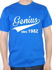 GENIUS SINCE 1982 - Birth Year / Birthday Gift / Novelty Themed Men's T-Shirt