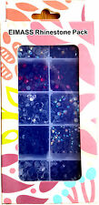 EIMASS® Rhinestone Pack, 6 Colours, 2,000 Assorted Glass Crystals Flat-Back Gems
