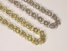 """20"""" Round Linked Chain Necklace & Earring Set - Gold or Silver - U51"""