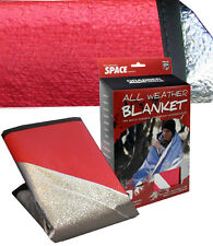 "All Weather Blanket Emergency Survival gear 60""X84""Original SPACE Brand  Red NEW"