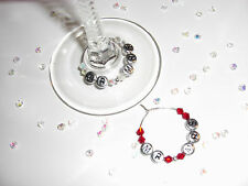Wine Glass Charms Birthdays,Weddings Favours,Gift Idea,Guest Favours Custom new