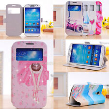 Stand Diamond Painting PU Leather Flip Cover Case For Samsung Galaxy S IV i9500