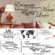 Home Wall Art Sticker Waterproof Vinyl Quote Love words Large Decor Room 15Style