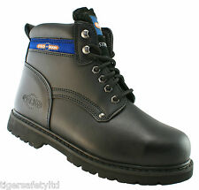 Pro Man PM9401A S1P Black Steel Toe Cap Safety Boots Work Boots Footwear PPE