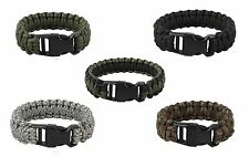 DELUXE Paracord Bracelet 7 strand Cobra 5/8 Survival Wristband Camo Colors