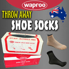 Disposable Ankle Socks - Travelling or stores -  Throw Away Nylon Stockings