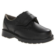 Jumping Jacks School Vance III Youth Boys Black Leather Velcro School Shoes