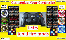 Mod Service - Xbox 360 Wireless Controller with LEDs and/or Mods/Rapid Fire