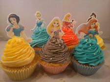 12 **Your Choice** of Disney Princess Edible Cake Toppers **Top Half Toppers**
