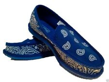 ROYAL BLUE BANDANA HOUSE SHOES SLIPPERS TROOPER BRAND NEW SIZE 9 10 11 12 13