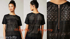 NEW Anthropologie Pelle Vegan Leather Top By Dolce Vita Retail:$168 Balck