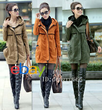Spring Autumn Women's Casual Mid-Long Section Zip Hooded Windbreaker Coat Jacket