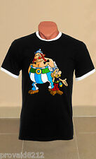 Asterix and Obelix Logo New T-shirt with rings FRUIT OF THE LOOM All Size Mod1