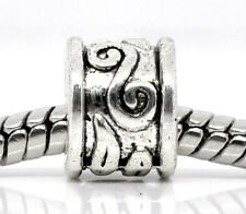 NEW Antique Silver Tone Swirl Pattern Spacer Beads Fits European Charm Bracelets