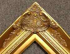 "4"" Gold Leaf Wood Antique Picture Frame wide photo art wedding gallery B9G"